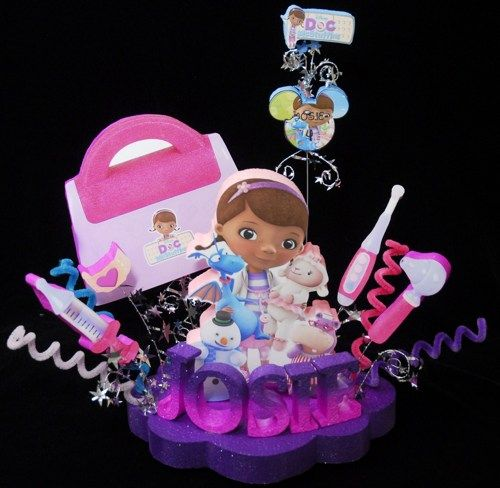 Doc McStuffins with Medical Purse Birthday Cake Topper Decoration | Adianezh - Seasonal on ArtFire