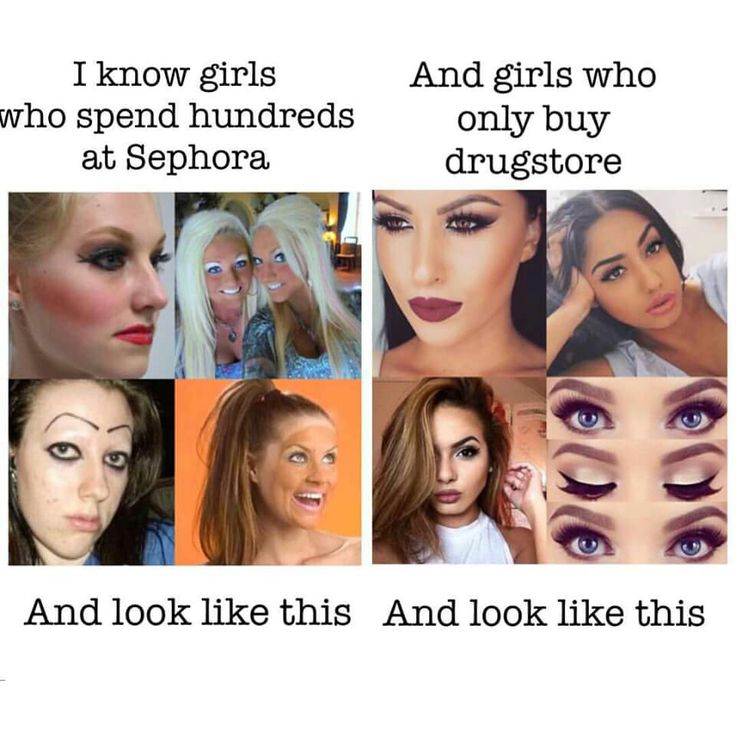 It's not the makeup, it's your skill.