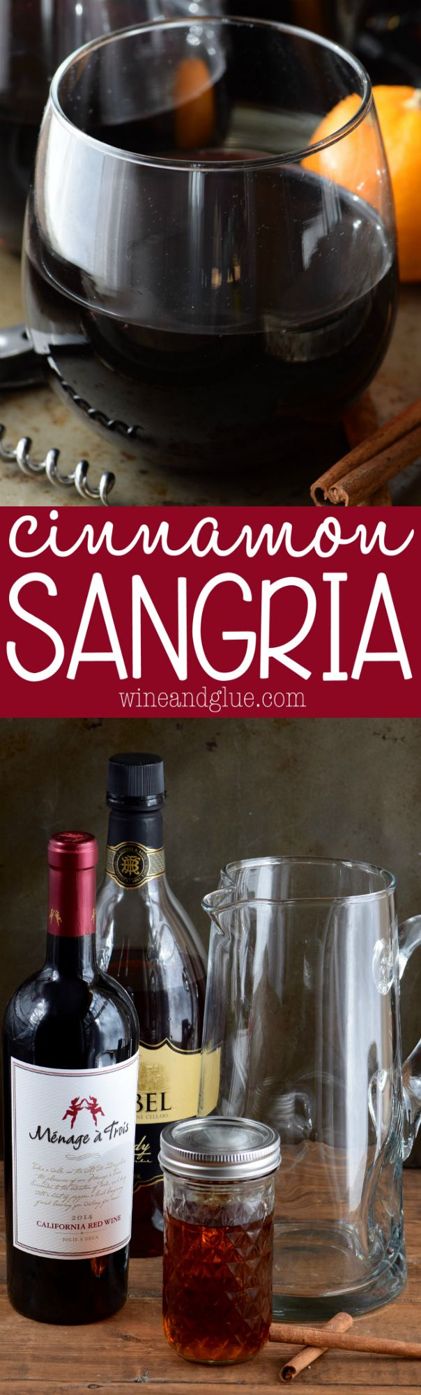 This Cinnamon Sangria is amazingly delicious! And easy to throw together! This is going to be your new favorite holiday drink!
