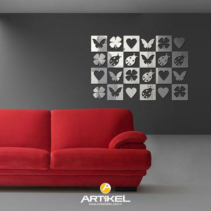Akrilik malzemeden yapılan ve kırılması, cam ayna ile kıyaslandığında çok daha zor olan dekoratif ayna duvarlarınızı süsleyecek... #dekoratifayna #artikeldeko