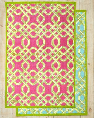 Lilly Pulitzer Well-Connected Cotton Rug...got the blue/seaweed green to go with the comforter set.