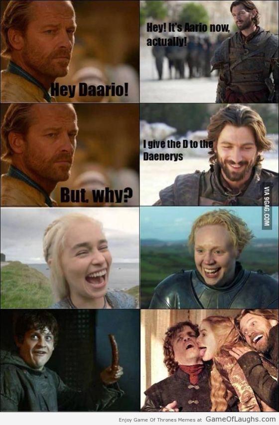 Daario just trolled Ser Jorah - Game Of Thrones Memes