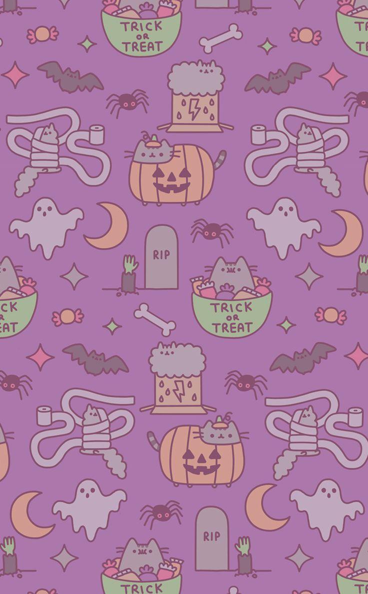 Resultado de imagen para pusheen halloween wallpaper phone