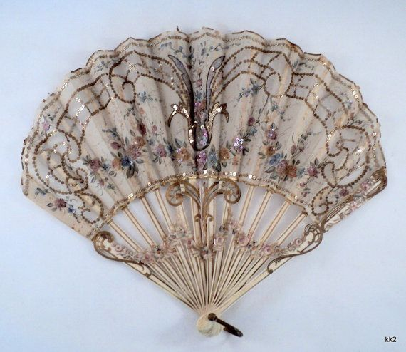 Victorian Hand Fans | Antique Ornate Victorian Hand Fan