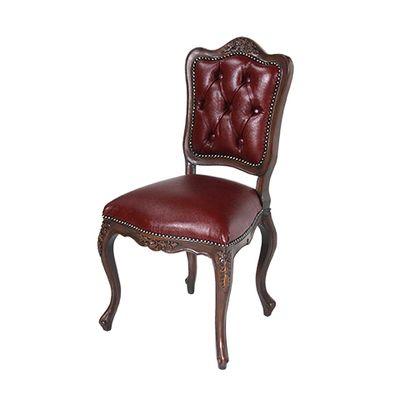 [F]ロココ調チェア  曲線と彫刻が美しい椅子