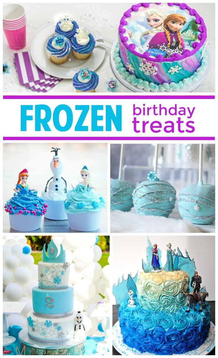 Planning a Frozen birthday party? Here are cakes, cupcakes, cake pops and more fun treats!