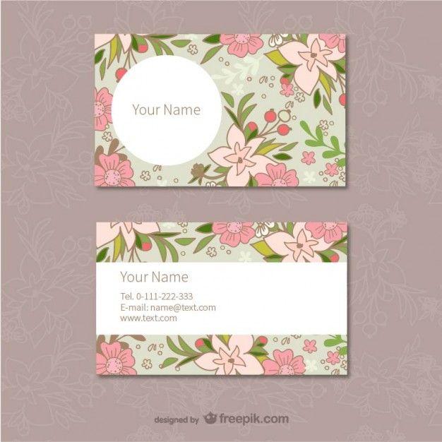 Floral modelo de cartões de visita                                                                                                                                                     Mais