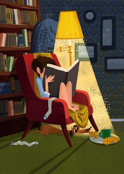 Reading traps us / La lectura nos atrapa (ilustración de Olga Demidova)