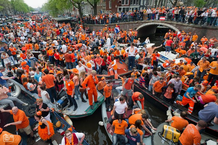 Now in 2014 we call it Kingsday, but previously it was called Queensday. It's a day to celebrate gratitude for our royal family.