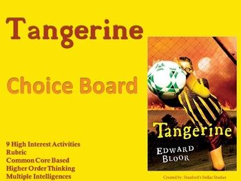 9 creative activities to culminate the reading of Tangerine! Students can choose from a variety of activities to create their own final project. Includes choice board and rubric! Use as classwork, homework, extension activities, early finisher work, or even in literacy centers.