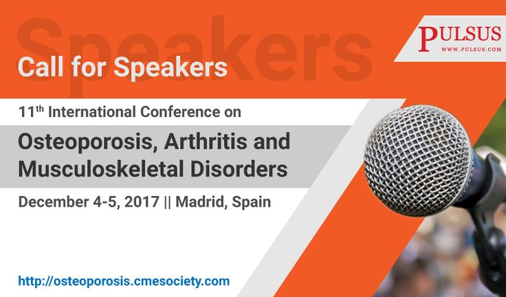 """11th International Conference on #Osteoporosis, #Arthritis and #Musculoskeletal Disorders will be organized around the theme """"Osteoporosis and Musculoskeletal Disorders as primary health concern"""". The conference includes workshops, symposiums, special keynote sessions conducted by eminent and notable speakers who surpass in the field of #orthopedics"""
