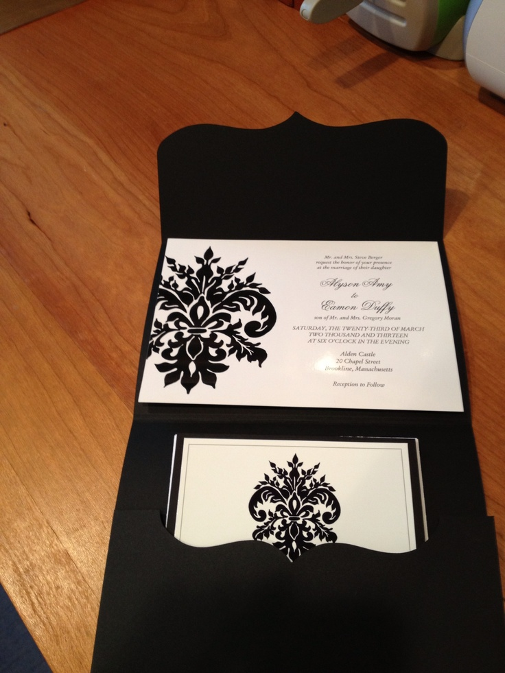 Invitation Aly's Wedding (A Cricut Wedding) Pinterest