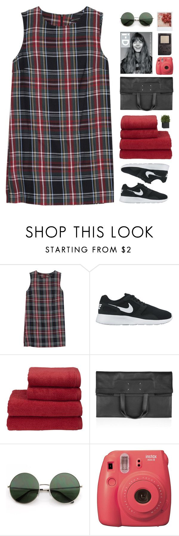 """que te sueño y que te quiero tanto"" by via-m ❤ liked on Polyvore featuring MANGO, NIKE, Christy, Maison Margiela, Fujifilm and Crate and Barrel"