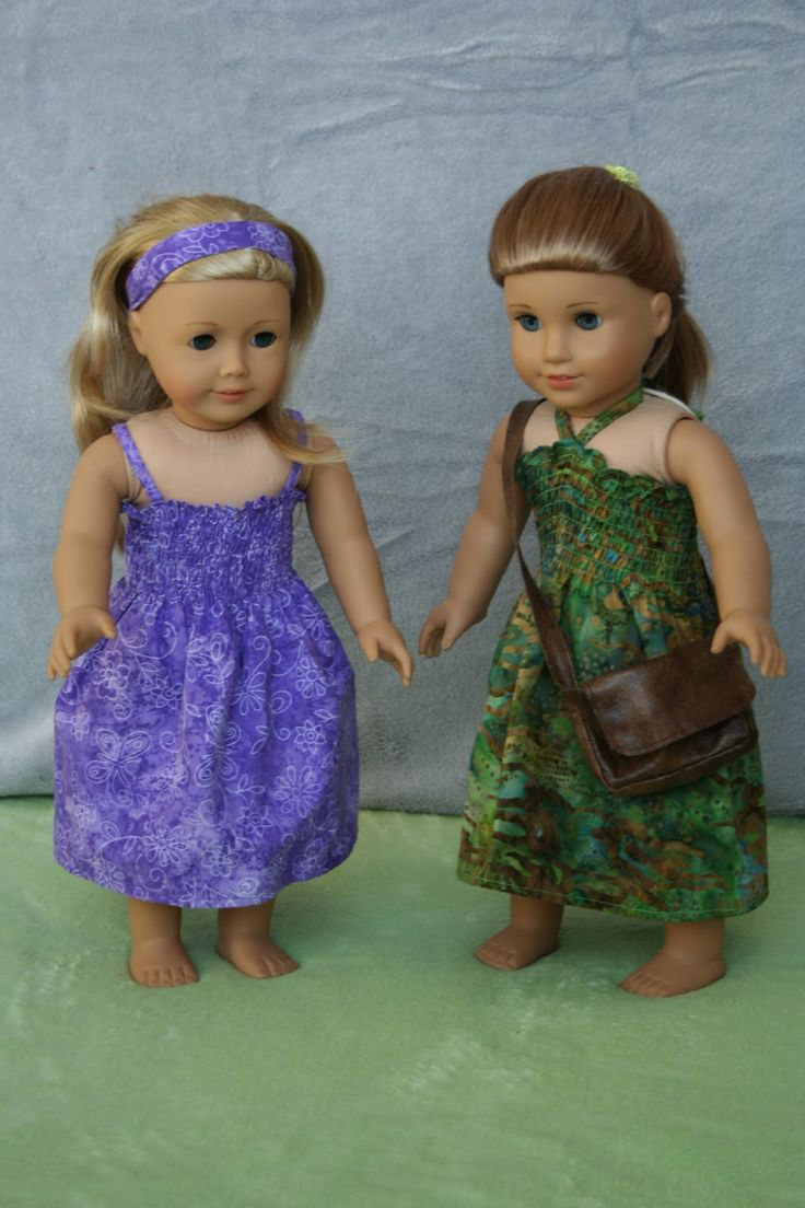 "Free shirred summer dress tutorial for 18"" AG dolls"
