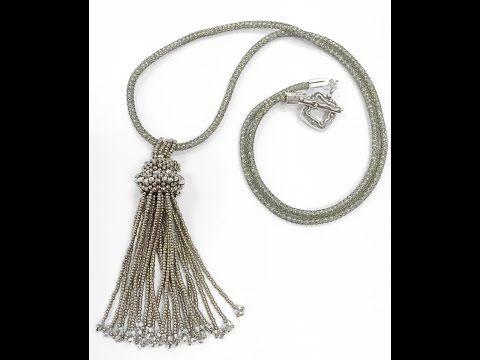 Jewel School Kit Project:Tassel Necklace - YouTube
