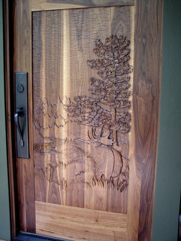 Custom built hand carved door by john huisman the