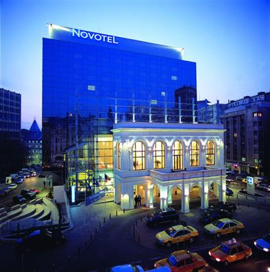 Novotel, Bucharest - the front is actually the facade of the old National Theatre