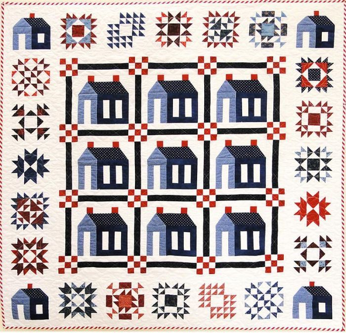 15 best images about Quilts - theme : houses on Pinterest : quilt shops in boston - Adamdwight.com