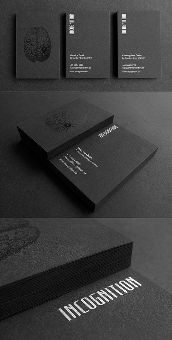 Black Business Card | Business Cards | The Design Inspiration