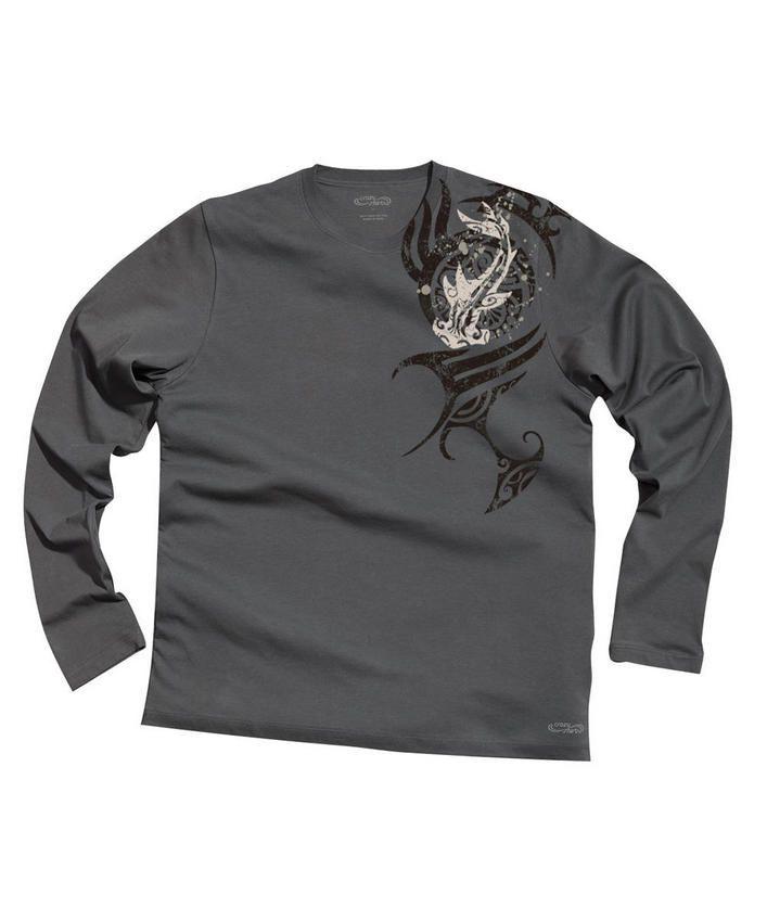 Mano Dive Aumakua - Smoke Long-Sleeve Pima Shirt