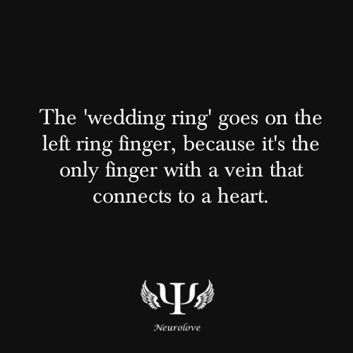 """Tradition""   The 'wedding ring' goes on the left ring finger, because it's was believed by the ancients that the vien on the third third finger went directly to the heart."