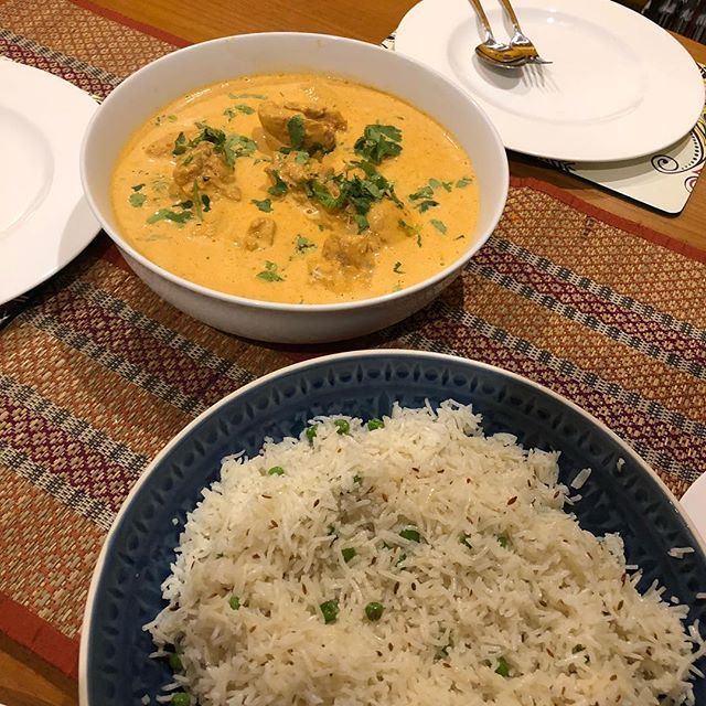 Jeera rice and butter chicken for a midweek meal! #TalesFromNW #MangiaBene #HomeMade #Latergram