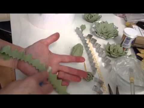 How To Make Gumpaste Succulents Using Strip Cutters For