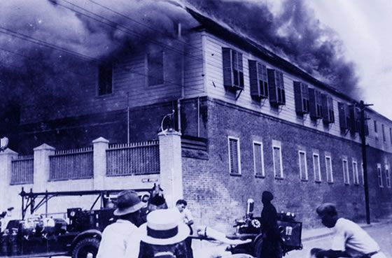 Immaculate Conception High School - fire at their initial Duke Street location…