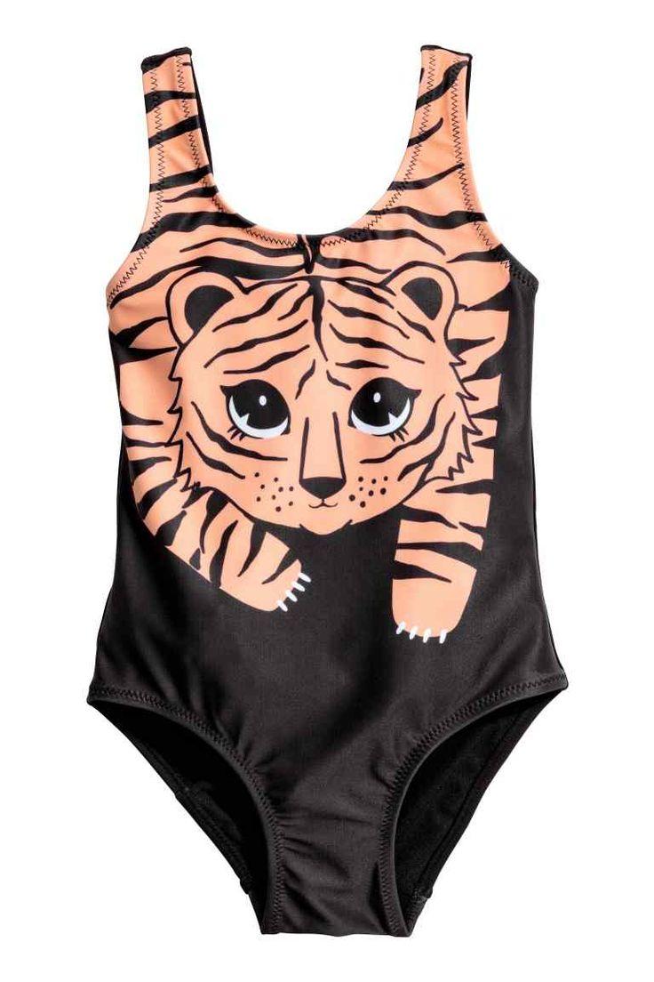 Badpak met print - Zwart/tijger - KINDEREN | H&M NL