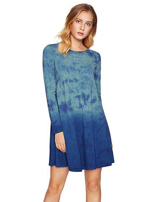 dbdd0a317c ROMWE Women s Tunic Swing T-Shirt Dress Short Sleeve Tie Dye Ombre Dress  Multicolor XXXXL at Amazon Women s Clothing store
