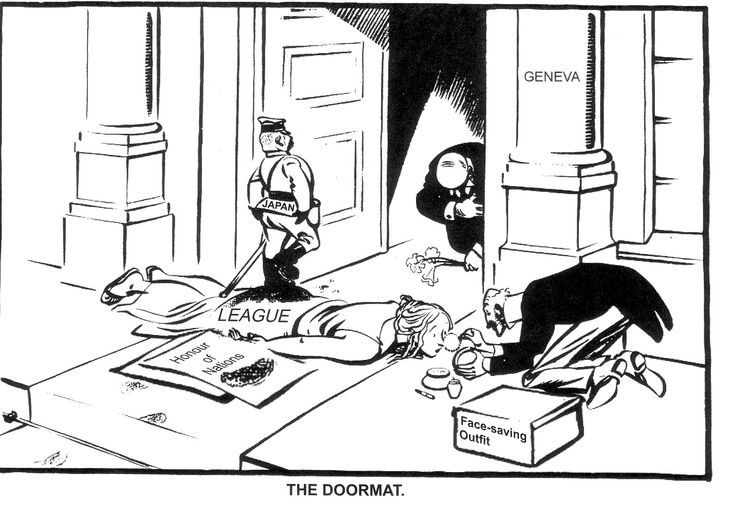 Cartoon by David Low, January 1933: The League of Nations