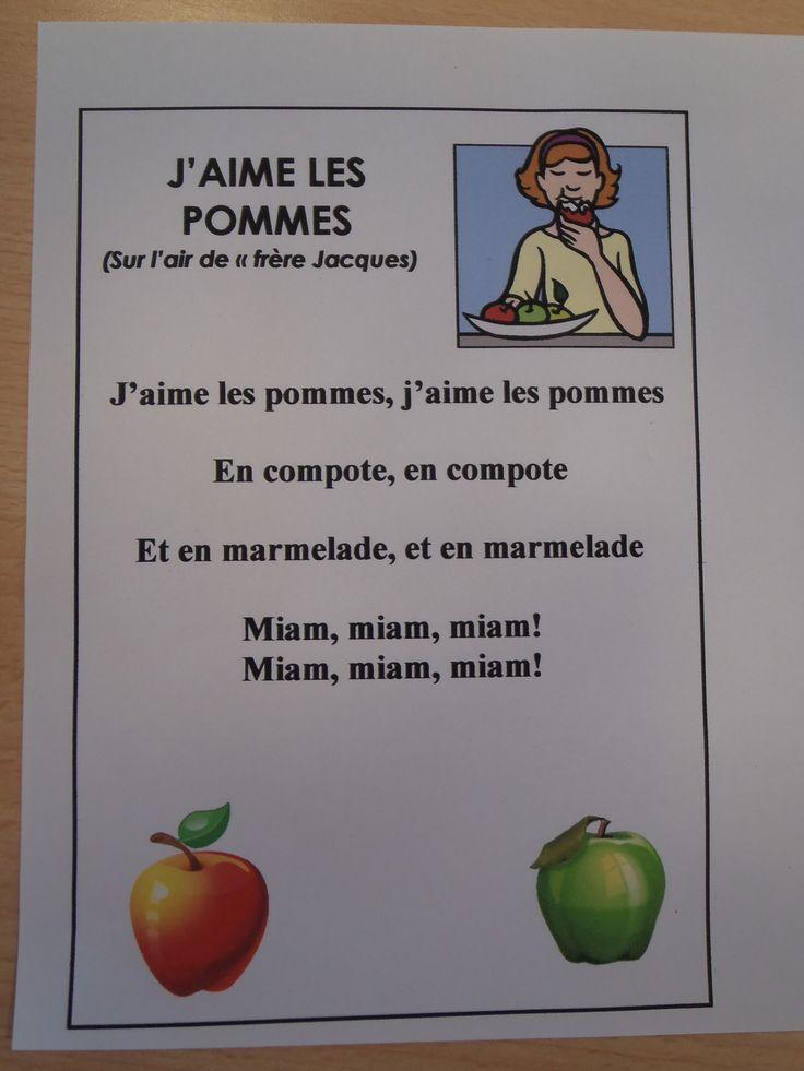 Chant: j'aime les pommes