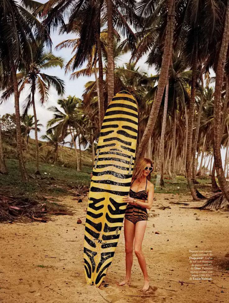 surfer girl: heide lindgren by riccardo tinelli for elle spain may 2014