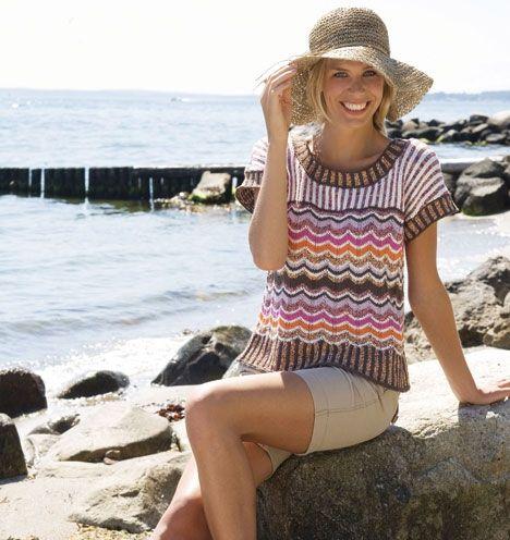 Strik en sød og farverig tunika - Hjemmet DK
