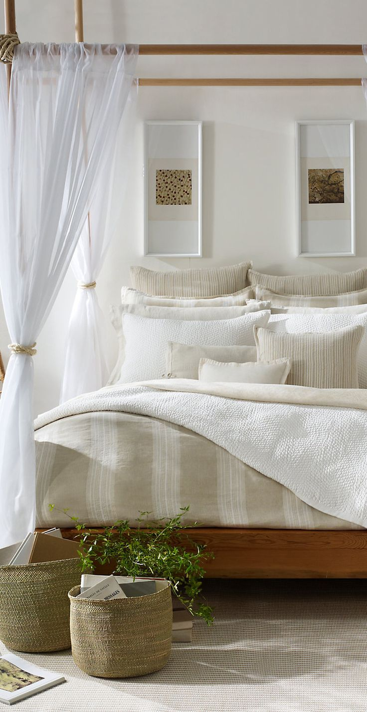 A great look for a staged bedrooom - minus the open book on the floor of course. Ralph Lauren Modern Naturals Collection