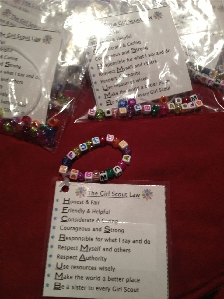 girl scout law craft ideas scout bracelet craft so we can practice 6635
