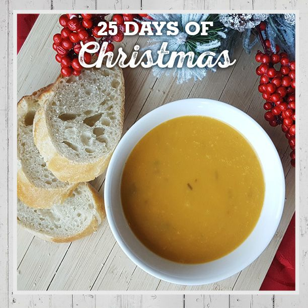 It's soup season! At the end of a busy December day, warm up from the inside out with Farm Boy Thai Sweet Potato Soup #FB25daysofChristmas #FarmBoyFoodie www.farmboy.ca/christmas