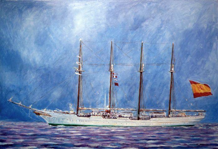 A. Vallespin, Buque escuela de la armada española Juan Sebastian Elcano.