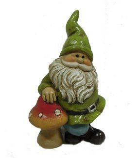 Fairy garden resin gnome mushroom gardens outdoor for Gnome 3 decoration fenetre