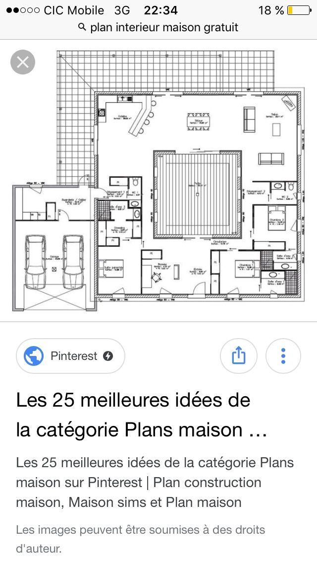 149 best Maisons images on Pinterest Home plans, Cottage floor - plan de maison d gratuit