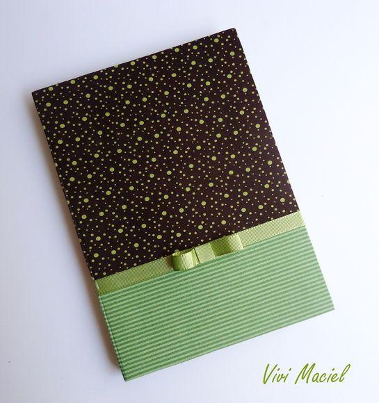 Caderno c/ Capa personalizada Verde