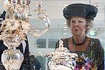 NLD/Schoonhoven/20140605 - Prinses Beatrix opent het vernieuwde Nederlands Zilvermuseum , (Anneke Janssen/foto: Anneke Janssen)