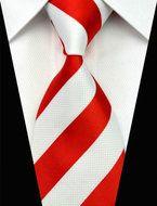 Giftset Kiev - Stropdas Manchetknopen & Pochet!  Description: Als je op zoek bent naar een mooie stropdas kijk dan eens naar deze mooie combinatie. Deze unieke das is namelijk wit met rood gestreept. Door de kleuren die elkaar afwisselen past deze stropdas heel goed bij verschillende overhemden en pakken. Misschien ben je wel op zoek naar een leuk cadeau voor een vriend of een collega ook dan is dit een goede keuze. Zorg voor meer variatie in je garderobe. Als je meerdere stropdassen hebt…