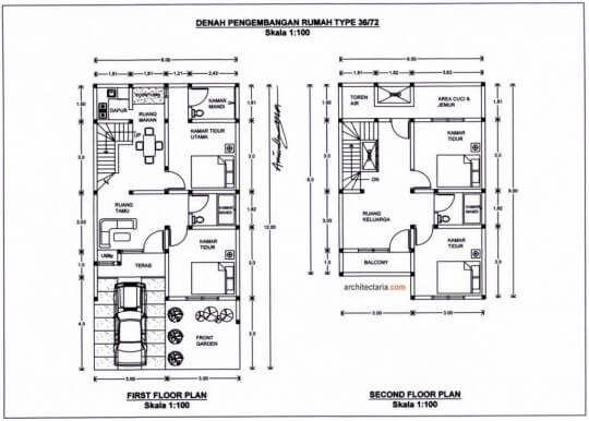 Desain Rumah Minimalis Type 36 72 Rumah Minimalis Bagus Denah Rumah Rumah Desain Rumah