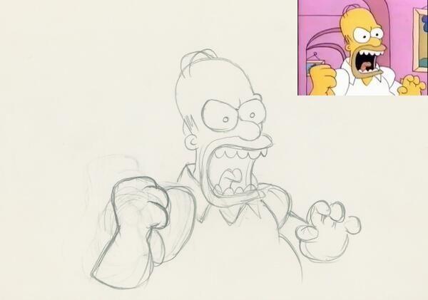 """IlPost - Homer in un disegno preparatorio per il corto """"The Bart Simpson Show"""", andato in onda il 20 novembre del 1988 all'interno del """"Tracey Ullman Show"""". (Dal profilo Twitter di David Silverman) - Homer in un disegno preparatorio per il corto """"The Bart Simpson Show"""", andato in onda il 20 novembre del 1988 all'interno del """"Tracey Ullman Show"""".  (Dal profilo Twitter di David Silverman)"""