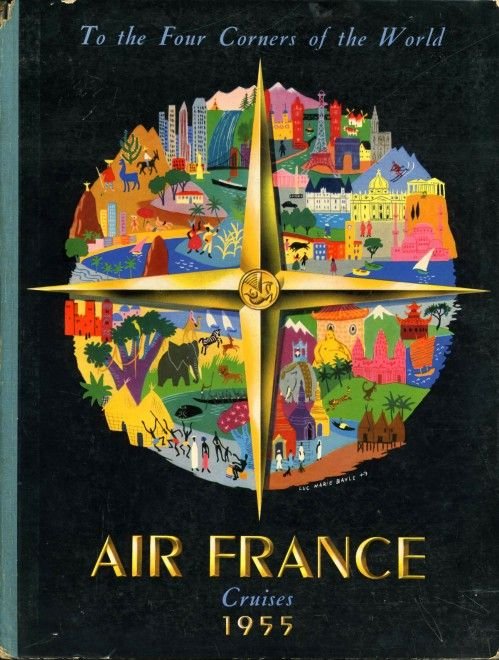 913 best Air France images on Pinterest Air france, Posters and - new air france world map flight routes c.1948
