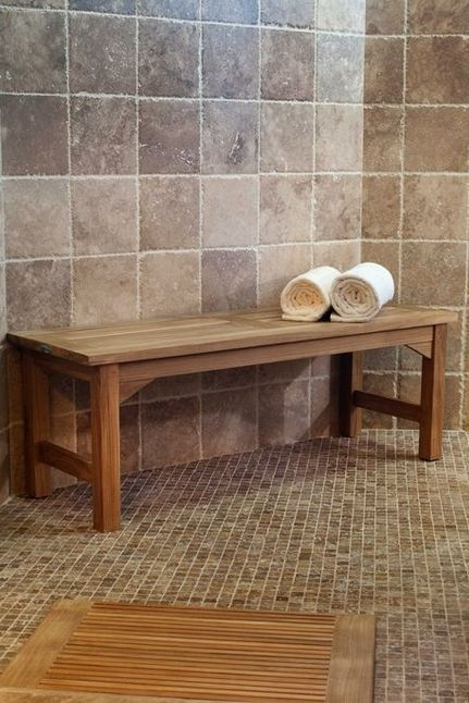 4 ft Teak Shower Bench by Westminster