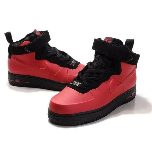 Nike Air Force One High Men Patent Leather Men Red Shoes 1003 $78