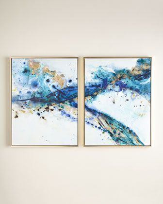 """Two """"Azure Canyon"""" Prints at Neiman Marcus."""