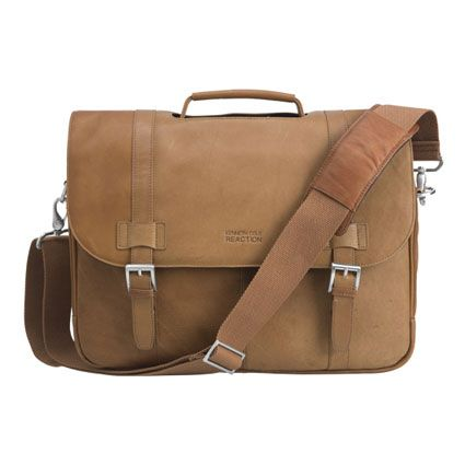 Reaction Kenneth Cole Show Business Leather Flapover Laptop Bag